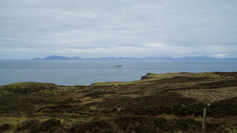 A ferry in the distance