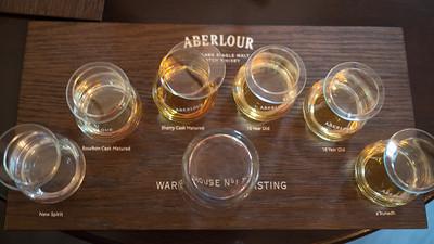 Whiskey tasting at Aberlour Distillery