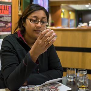 Becca whisky tasting at Edradour
