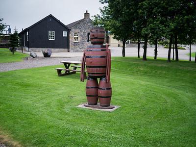 Man made of Whisky barrels