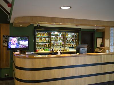 Tasting bar at Edradour Distillery