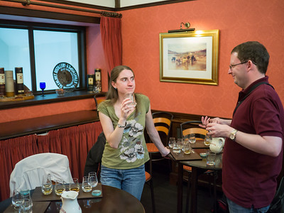 Chris and Becky Whisky tasting