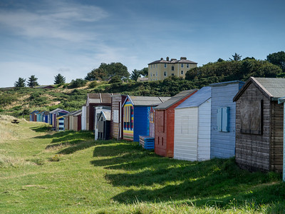Beach huts at Hopeman.