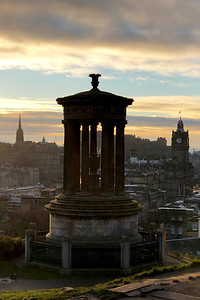 Dugald Stewart Monument, Calton Hill. Edinburgh, Scotland, United Kingdom