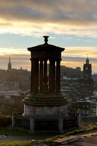 Dugald Stewart Monument, Calton Hill. Edinburgh, Scotland, United Kingdom