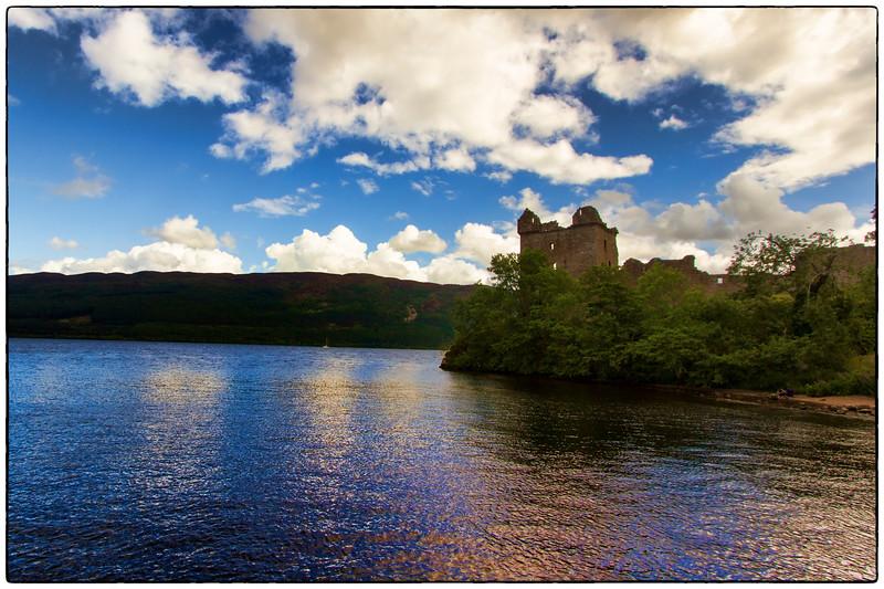 Urquhart Castle On The Edge of Loch Ness, Scotland