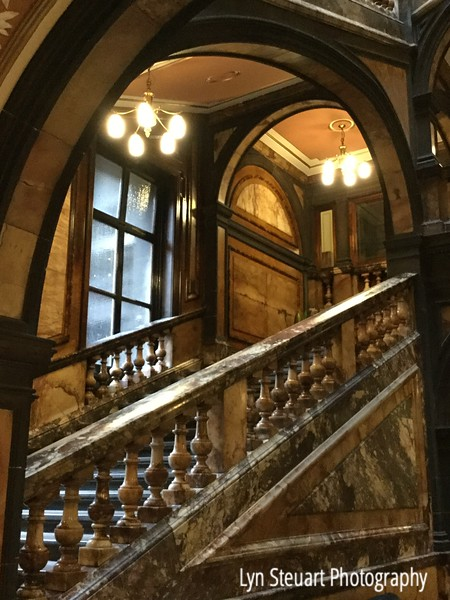 Dark marble staircase in the City Chambers Buidling in Glasgow (the other side of the building is the white marble staircase)