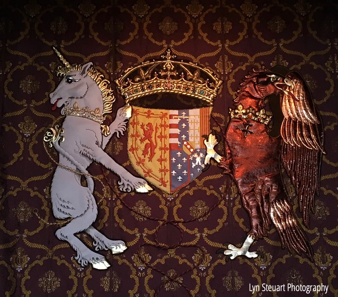 Kings coat of arms tapestry