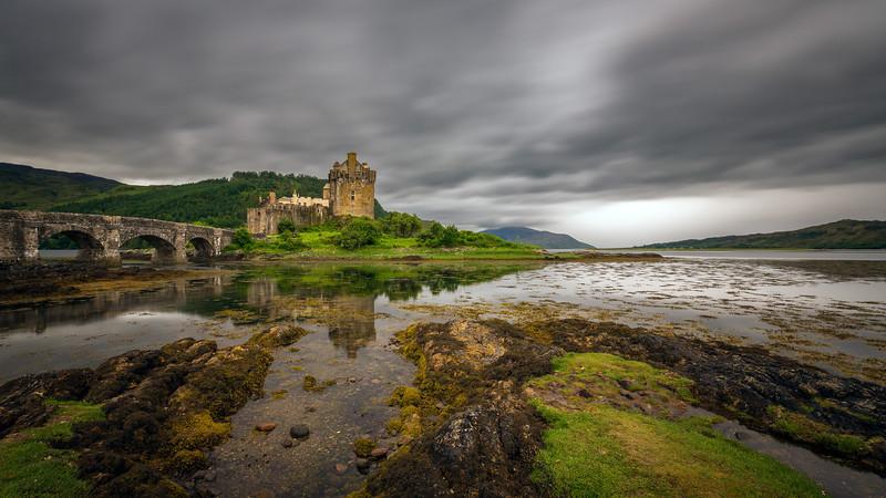 Thunderstorm above Eilean Donan Castle