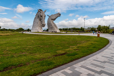 The Kelpies at Helix Park in Falkirk.