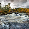 Panorama of River Affric Waterfall (Glen Affric)