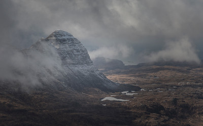 Suilven from Canisp in Spring