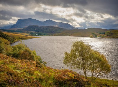 Loch Kernsary with Beinn Airigh Charr, Wester Ross