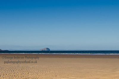 Bass Rock From Bellhaven Bay East Lothian Scotland