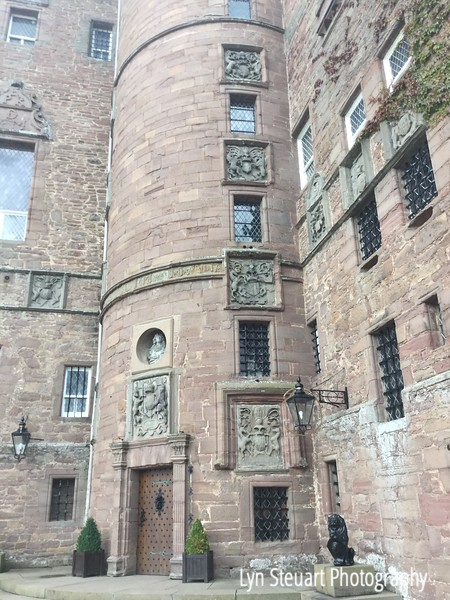 Front entrance at Glamis Castle