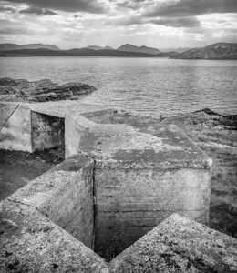 WWII anti-aircraft battery - Mellon Charles, Wester Ross