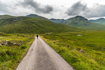 A walk in the Highlands in Scotland.