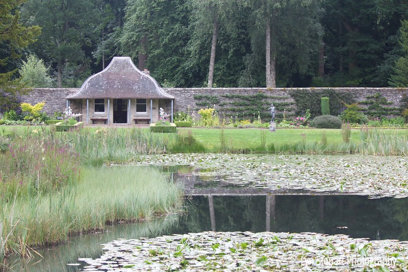 Garden pond at Blair Castle