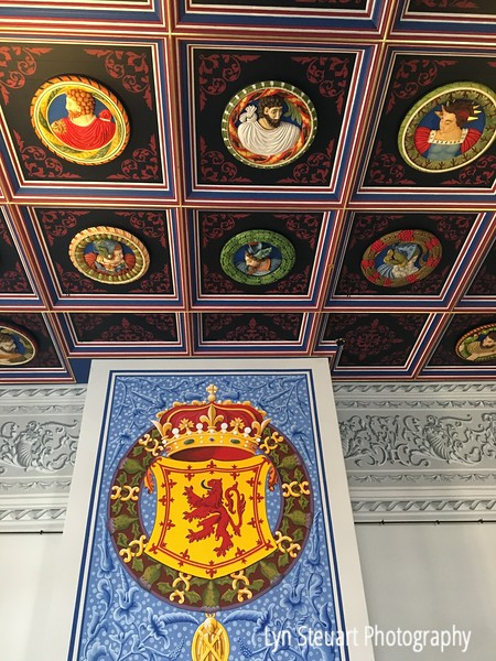 A small section of an amazing ceiling in the King's chambers at Stirling castle.
