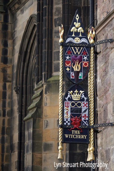 The Witchery sign on the Royal Mile