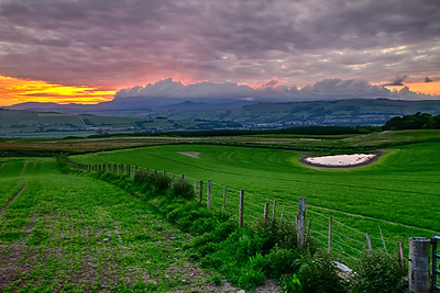 Sunset, Fields by Graham Clark's
