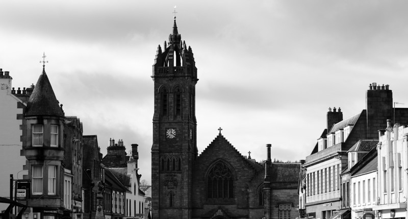 Photo:  A shot down mainstreet in the Borders town of Peebles.