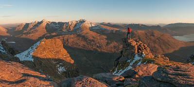 Sunset over Liathach from Beinn Dearg, Torridon