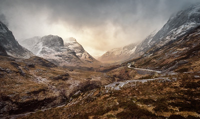 "View down Glen Coe from the ""Study"""