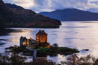 Night Light Over Eilean Donan Castle