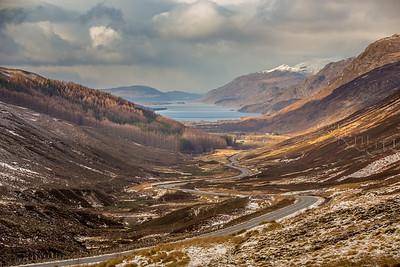 Winding Scottish Mountain Road