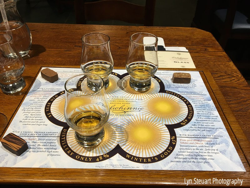 Whisky tasting with chocolate pairings at Dalwhinnie Distillery