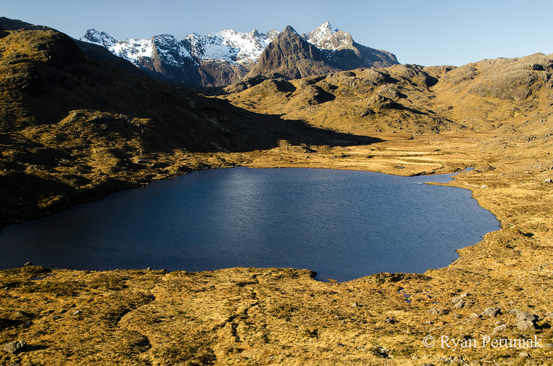 Photo:  Alpine lake midway through my extended hike.