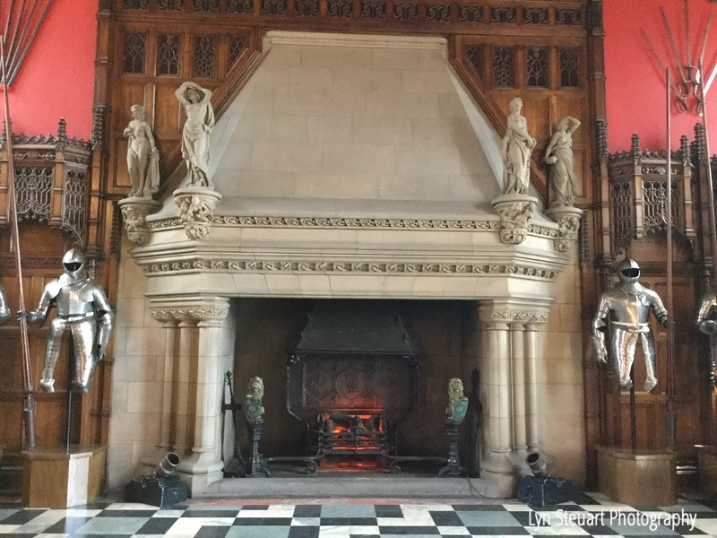 The Great Hall in Stirling Castle fireplace.