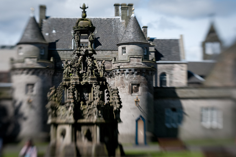 Inside square of Holyroodhouse Palace where the Queen greats her visitors.