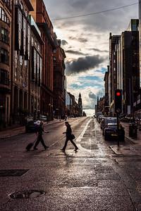 Blythswood Street in Glasgow.