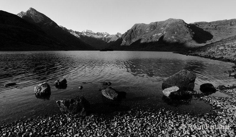 Photo:  Loch Coruisk, the orignal destination of my hike.  Due to my detour I only had enough time to snap this photo as darkness was quickly approaching.