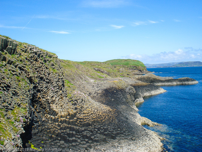Basalt Rock formation on Isle of Staffa, Scotland