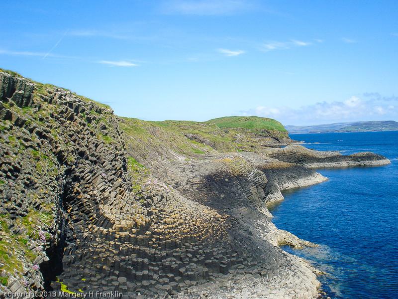 Basalt Rock formation on Isle of Staffa, Scotland