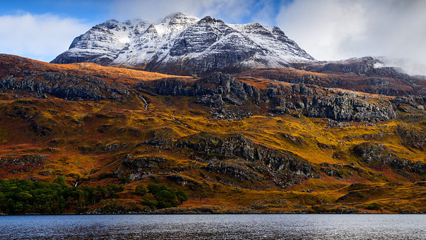 Slioch towering over Loch Maree - Scotland