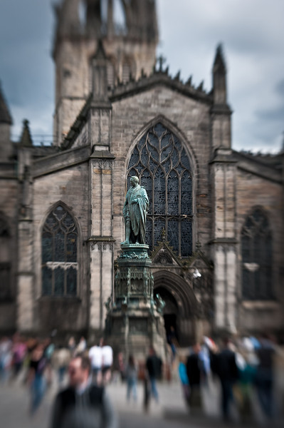 St. Giles Cathedral midway along the Royal Mile.  The meeting place for the night crawls in the underground supposedly haunted with ghosts and goblins or at least re-enactors.