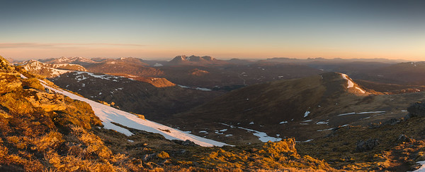 Dawn over the Fisherfield Forest