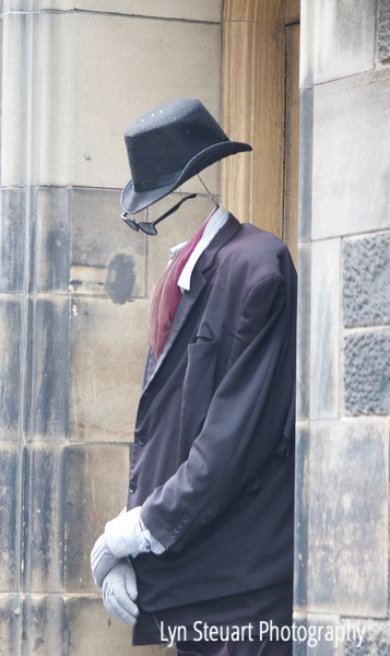 Mysterious man along the Royal Mile in Edinburgh