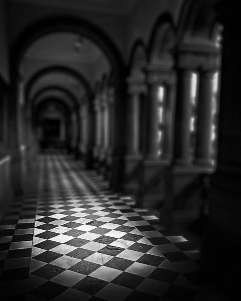 Marble Floor at the Kelvingrove Museum. 2017.