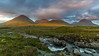 Sligachan Waterfalls - Glamaig peak and the Red Hills