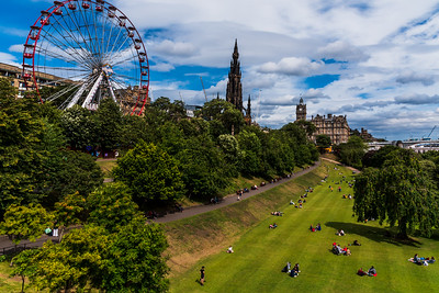 Princes Street Gardens in Edinburgh.