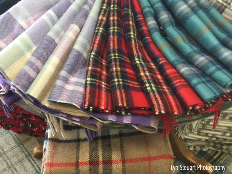 Plaids and tartans everywhere!