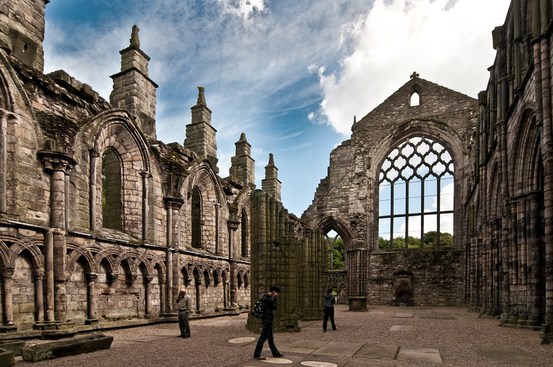 The Abbey behind Holyroodhouse Palace.