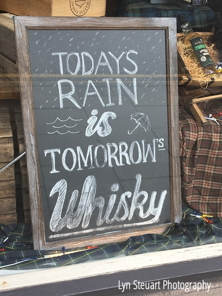 Sign in a Whisky shop!