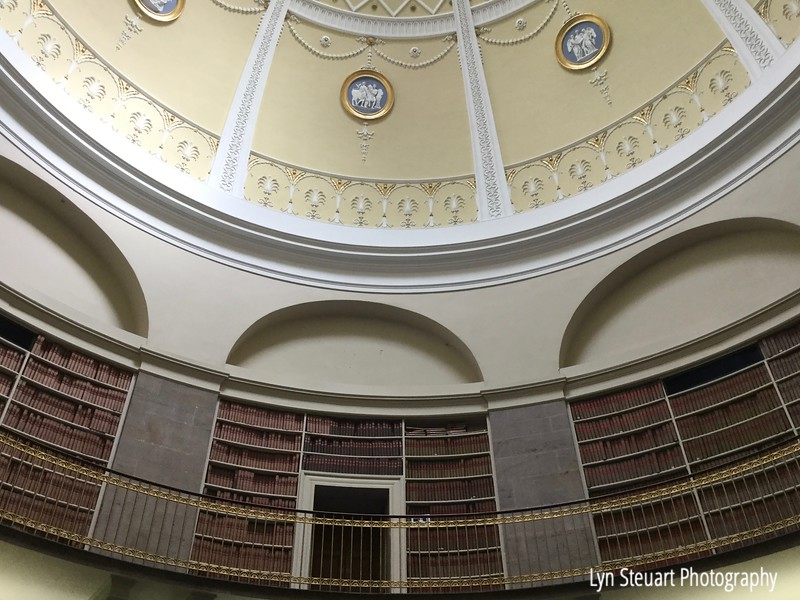 Beautiful room in the National Records Building where you can research your Scottish ancestry