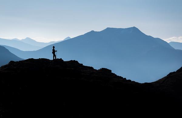 Hill walking above Glencoe